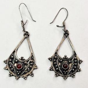 Vintage Sterling Silver Tear Drop Earrings